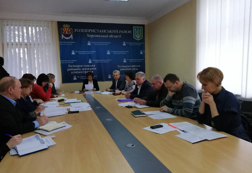 Засідання робочої групи з контролю за підготовкою до курортно–туристичного сезону в Голопристанському районі
