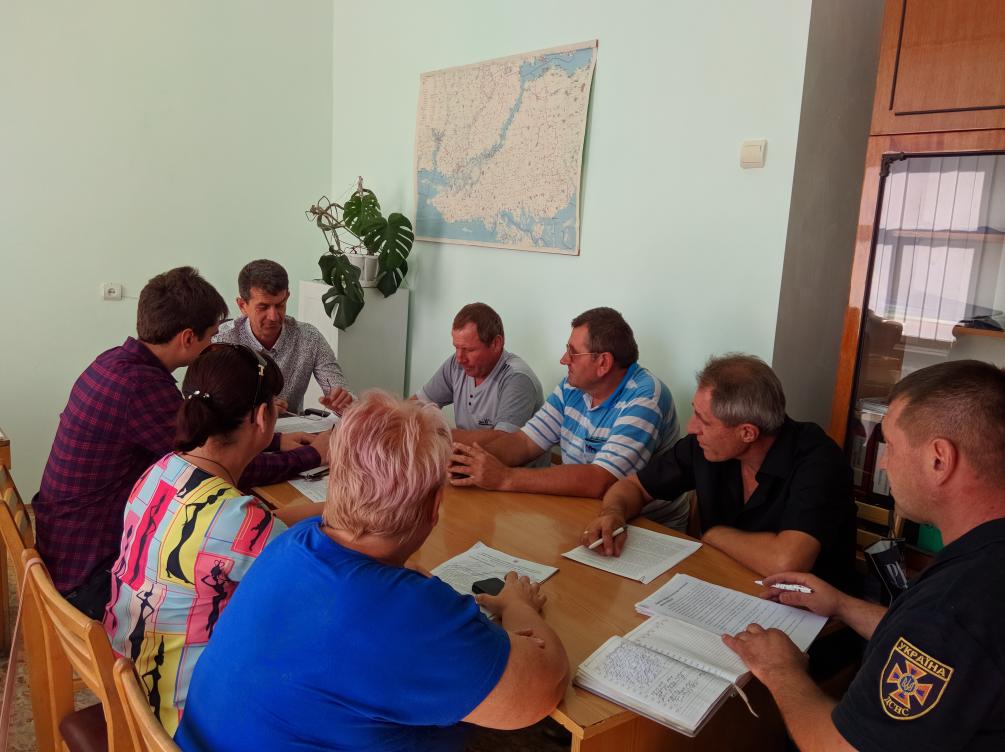 Засідання Великолепетиської районної комісії з питань техногенно-екологічної безпеки та надзвичайних ситуацій