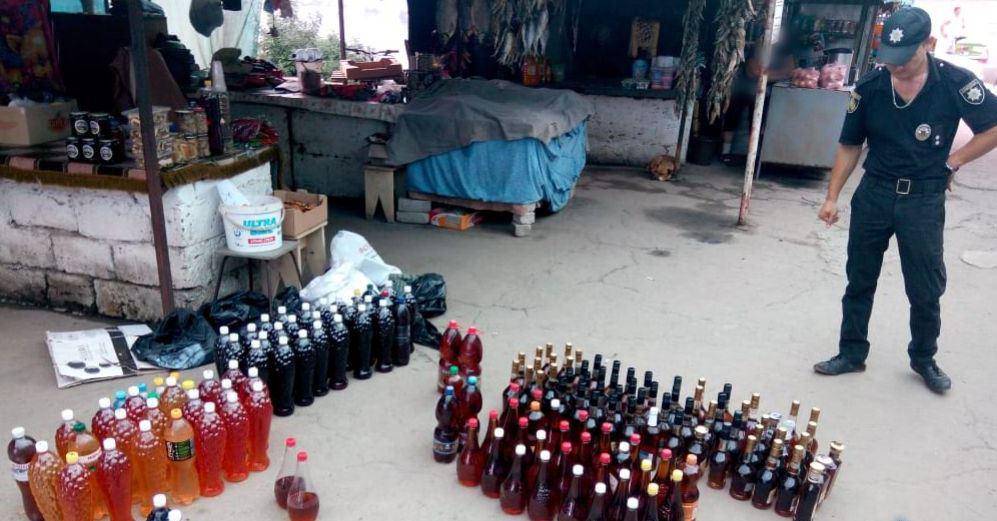 У Бериславському районі вилучено алкогольну продукцію без марок акцизного збору
