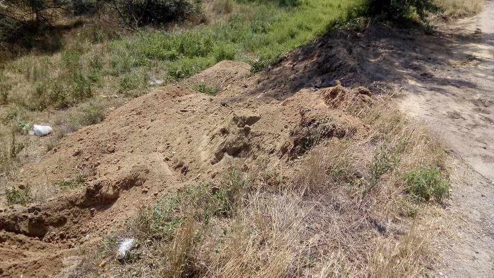 У селищі Геологів захоронили відходи тваринного походження