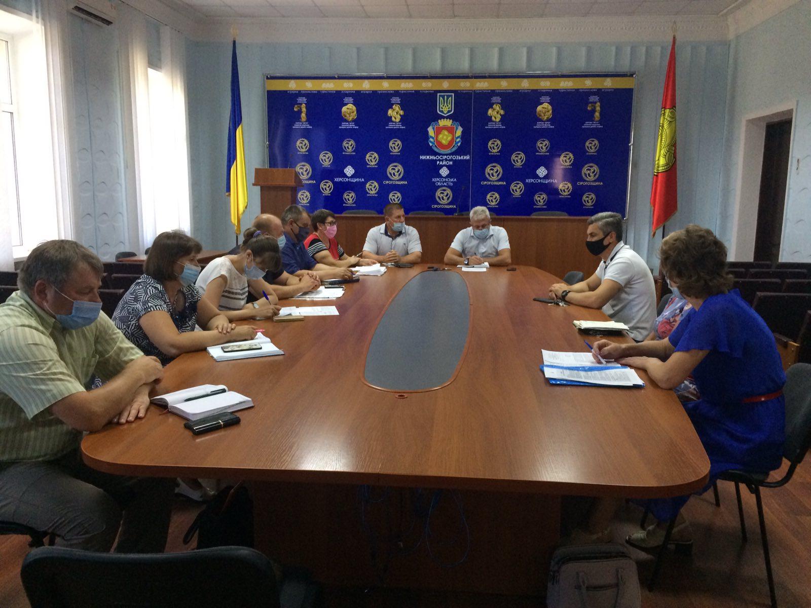 Позачергове засідання комісії з питань ТЕБ та НС Нижньосірогозької райдержадміністрації