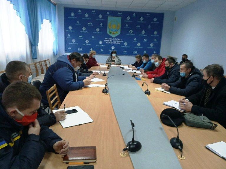 При Високопільській РДА проведено засідання ДНПК  щодо епізоотичної ситуації з грипу птиці