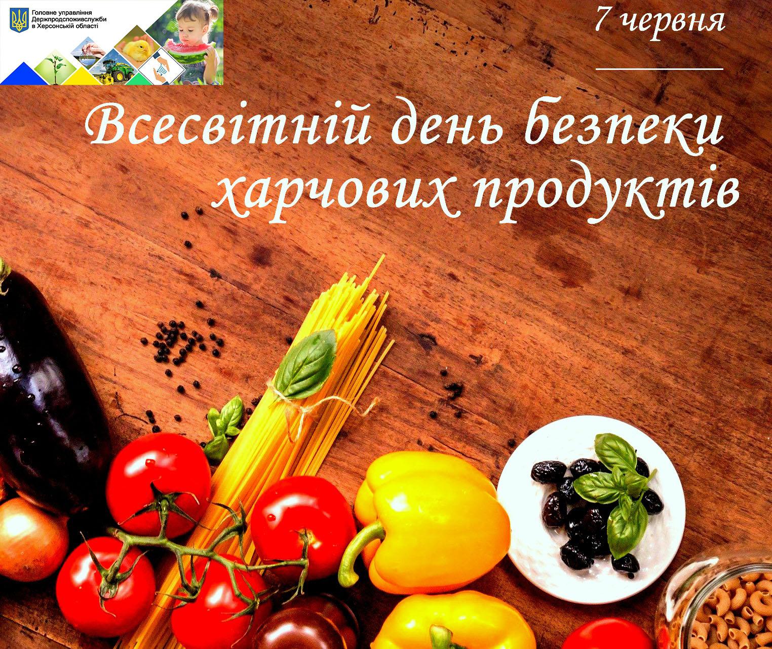 7 червня – Всесвітній день безпеки харчових продуктів!